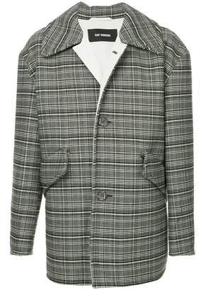 Raf Simons check print oversized blazer