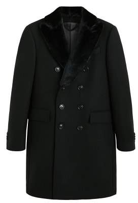 Mango Man MANGO MAN Detachable lapel wool coat