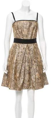 Dolce & Gabbana Strapless Metallic Dress