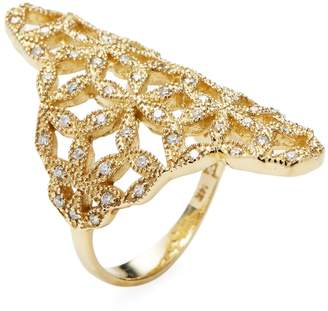 Mizuki Women's Woven Petal Ring