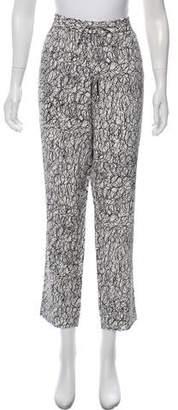 Diane von Furstenberg Printed Silk Lounge Pants