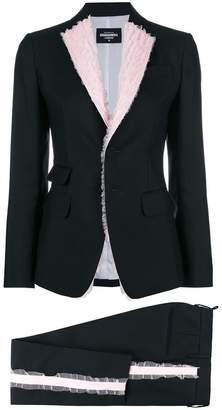 DSQUARED2 ruffle-trimmed tuxedo jacket