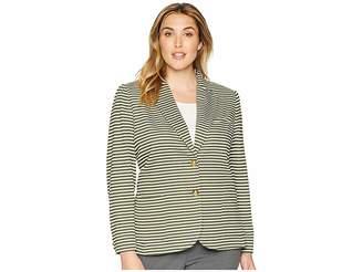 Lauren Ralph Lauren Plus Size Cotton Pique Blazer