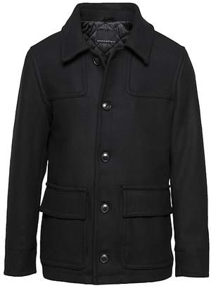 Banana Republic Italian Melton Two-Pocket Coat