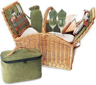 Picnic Time Somerset Green Picnic Basket