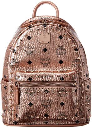 MCM Stark Mini Outline Studded Metallic Visetos Backpack