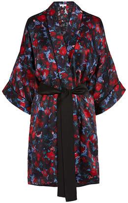 Violet And Wren Poison Rose Signature Silk Kimono