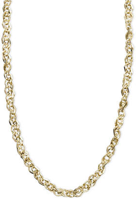 """Italian Gold 14k Gold Necklace, 16"""" Perfectina Chain Necklace (1-1/4mm)"""