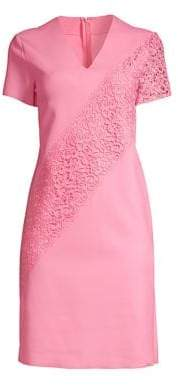Escada Sport Dacaya Scuba Knit Lace Sheath Dress