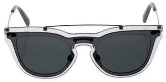 Valentino Tinted Aviator Sunglasses