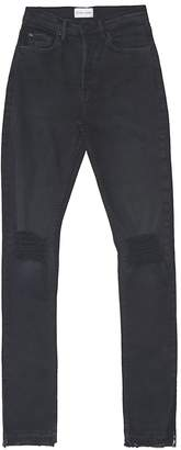 Cotton Citizen Women's High Split Denim - Washed Black