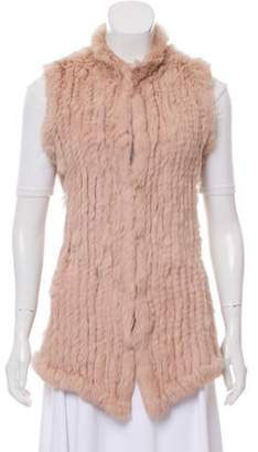 Love Token Fur Knit Vest Rose Fur Knit Vest