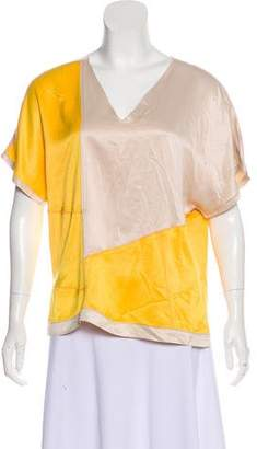 Bottega Veneta Silk Colorblock Top