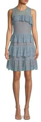 MICHAEL Michael Kors Lace Mix Flounce Dress