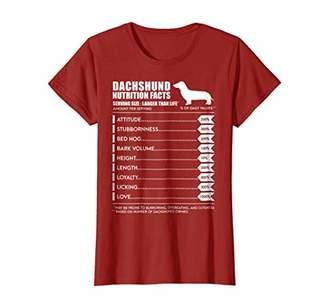 Dachshund T Shirt - Weiner Dog Nutrition Facts Shirt