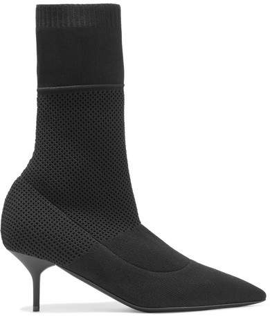 Burberry - Stretch-knit Sock Boots - Black