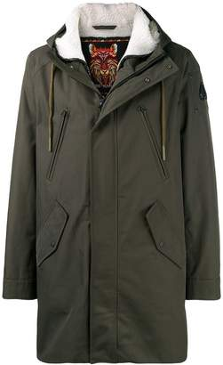 Moose Knuckles lined hooded coat