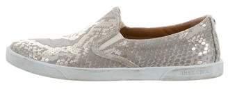 Jimmy Choo Embossed Slip-On Sneakers