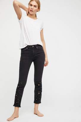 We The Free Cutwork High-Rise Cigarette Jeans
