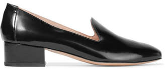 Mansur Gavriel Venetian Polished-leather Loafers - Black
