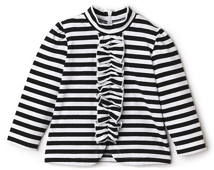 Little Maven by Tori Spelling Toddler Girls' Stripe Ruffle Top
