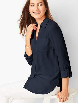 Talbots Soft Cutaway Blouse - Solid