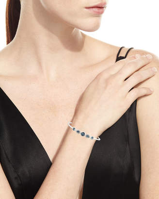 Ippolita Stella Sterling Silver 10-Doublet Bangle in Hematite & Diamonds