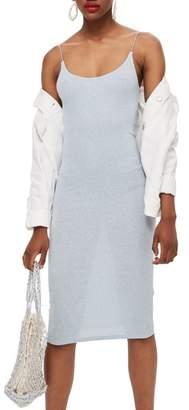 Topshop Glitter Ribbed Sheath Dress