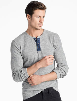Lucky Brand LIVED IN THERMAL HENLEY