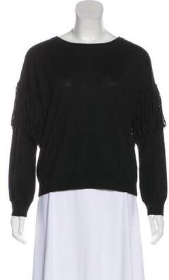 Ulla Johnson Alpaca Fringe-Accented Sweater
