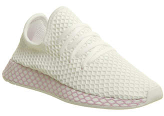 130122f20 adidas Deerupt Trainers White Clear Lilac F