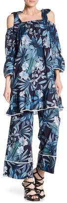 Paul & Joe Sister Jangala Cold Shoulder Print Blouse