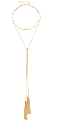 Vanessa Mooney The Smokin' Chain Bolo Necklace $80 thestylecure.com