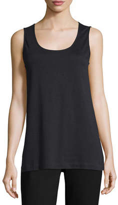 Joan Vass Soft Scoop-Neck Tank, Petite