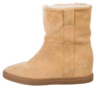 Common Projects Woman by Suede Mid-Calf Boots
