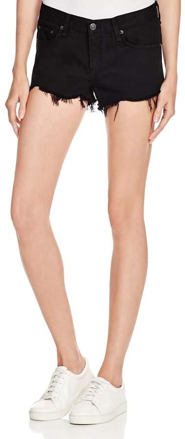Cutoff Denim Shorts in Black