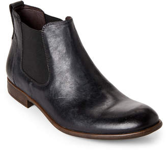 John Varvatos Dark Charcoal Leather Chelsea Boots