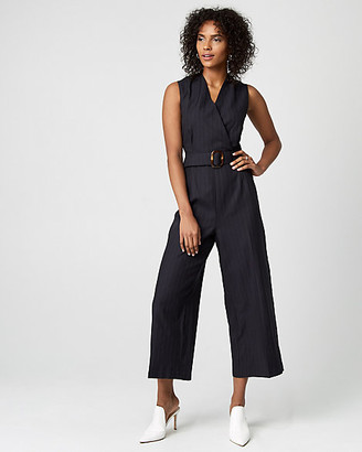 Navy And White Striped Jumpsuit Shopstyle Canada