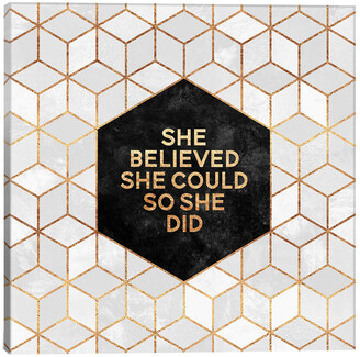 icanvasart She Believed She Could So She Did By Elisabeth Fredriksson Gallery Wrapped Canvas