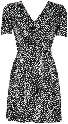Maje Ripi Animal-Print Mini Dress