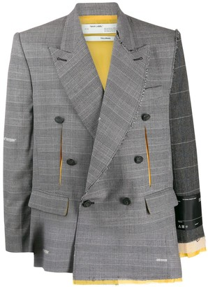 Off-White deconstructed checked blazer