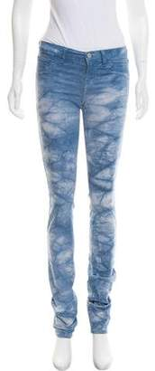 J Brand Mid-Rise Tie-Dye Skinny Jeans