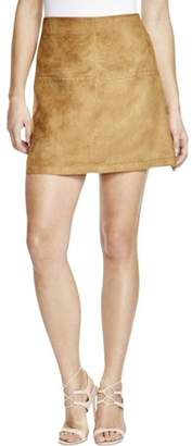 Sanctuary Womens Faux Suede A-Line Mini Skirt