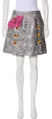 Dolce & Gabbana Metallic Embellished Mini Skirt w/ Tags