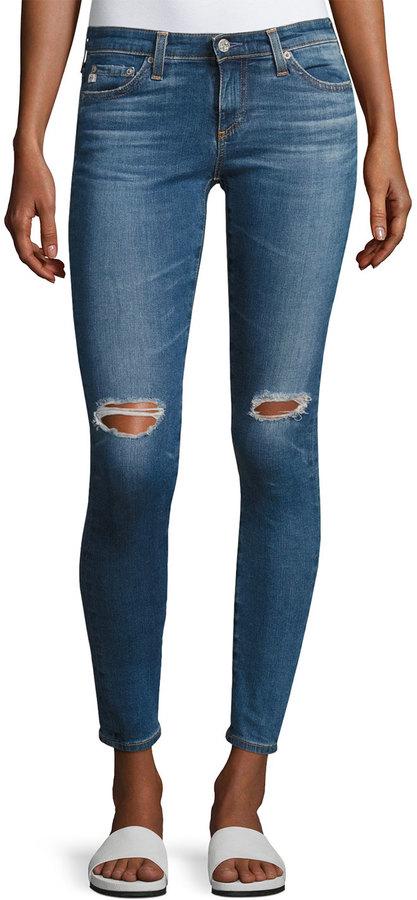 AG Legging Ankle Jeans, Medium Blue