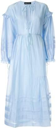 Anna October string tie maxi dress