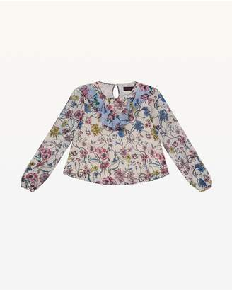 Juicy Couture Mixed Floral Georgette Top for Girls