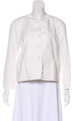 RED Valentino Pleated Button-Up Jacket