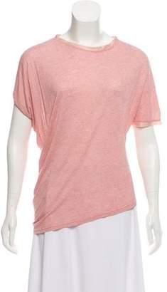Lanvin Asymmetrical Short Sleeve T-Shirt