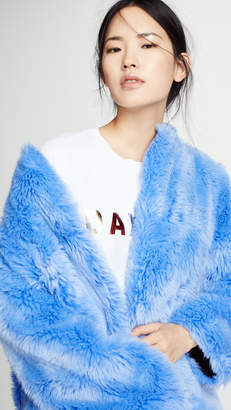 MSGM Faux Fur Long Coat